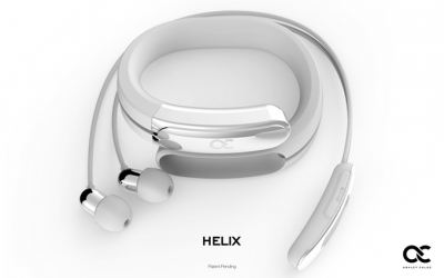 Relix Wearable Cuff with Stereo Bluetooth Headphones